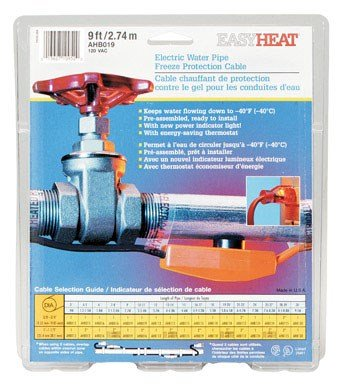 Easy Heat Water Pipe Heating Cable 9 ' 120 V 7 W/'