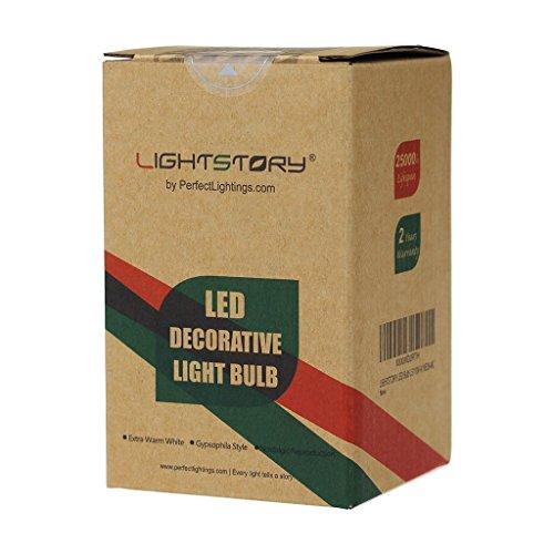 LIGHTSTORY Starry LED Bulb, E26 Base 2200K A19 Edison Decorative LED Light Bulbs, Non-Dimmable 4