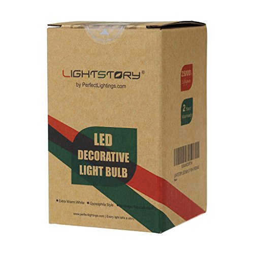 LIGHTSTORY Starry LED Bulb, E26 Base 2200K A19 Edison Decorative LED Light Bulbs, Non-Dimmable 4