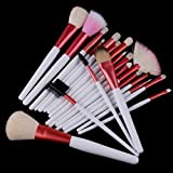 24 pcs Pro Cosmetic Makeup Brush Set with Pink Bag