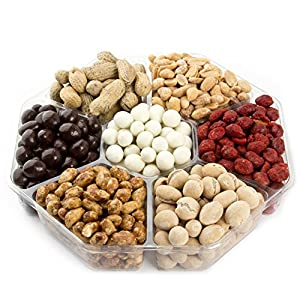 Nuts Gift Tray 7 Variety Assortment, Beautiful Packaged Nuts in Gift Box, Awesome Flavored Peanuts Gift - Oh! Nuts (Flavored Nuts Assortment)