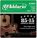 D'Addario EZ890 Great American Bronze Super Light  (.009-.045) Acoustic Guitar Strings