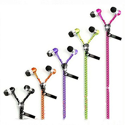 Mouse Over Image To Zoom Details About 3.5Mm In-Ear Stereo Zipper Metal Earphone Headphone With Mic For Iphone Samsung
