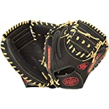 Louisville Slugger Omaha S5 Scarlet Catcher's Mitt Black With Scarlet, 33 1/2 Inch/Black With Scarlet