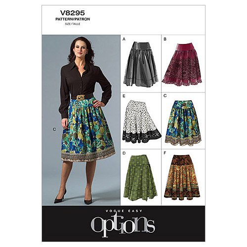 Vogue Patterns V8295 Misses' Petite Skirt, Size EE (14-16-18-20)