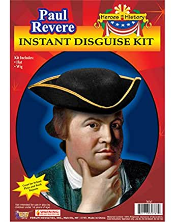 Forum Novelties Men's Heroes In History Instant Disguise Kit Paul Revere