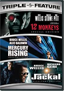 12 Monkeys / Mercury Rising / The Jackal (Three-Pack)