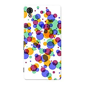 INKIF Cute Monster Designer Case Printed Mobile Back Cover for Sony Xperia M4 Aqua Dual (Multicolor)