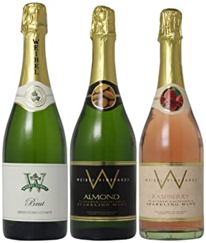 Weibel Family Fruity and Nutty Sparkling Selections Mixed Pack