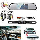 Wireless Backup Camera and Monitor Kit,Chuanganzhuo 4.3 TFT LCD Rear View Mirror Monitor Screen+Wireless Backup CMOS Wide Angle License Plate Camera With 7 LED Night Vision