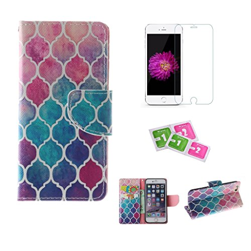 iphone-6-6s-case-jgntjls-with-free-tempered-glass-screen-protector-premium-pu-leather-wallet-embedde
