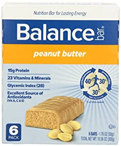Balance Bar Peanut Butter Bar, 6 count Value Pack