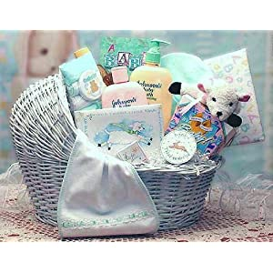 Gifts  Baby  on Baby Bassinet Gift Basket For Baby Boy   Gift Baskets For Boys   Gift