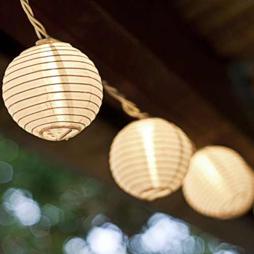 Outdoor Plug In Flexible String Lights : NEW 10 Oriental Plug-in String Light Lanterns White Lights Lamps Outdoor/Indoor eBay