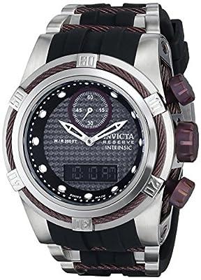 Invicta Men's 12489 Bolt Analog-Digital Display Swiss Quartz Black Watch