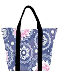 Snoogg Delightful Flower Pattern Cute Womens Large Shoulder Tote Bag