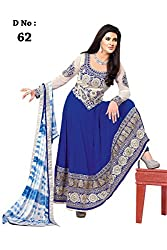 Siya Fashion women's Faux Georgette Party Wear Unstitched Dress Material(si62_Blue color)