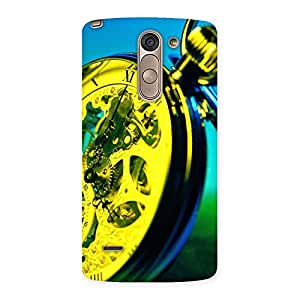 Delighted Vintage Hand Clock Multicolor Back Case Cover for LG G3 Stylus