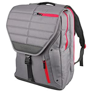 """Altego  Channel Stitched Ruby 17"""" Laptop Backpack for Apple MacBook Pro + iPad Pocket- Gray (36301)"""