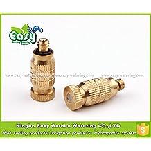 Generic Number 1 : Mist Nozzle(20~80bar) Fog Mist Nozzle, High Pressure Mist Cooling Nozzle.(50pcs/pack) Brass...