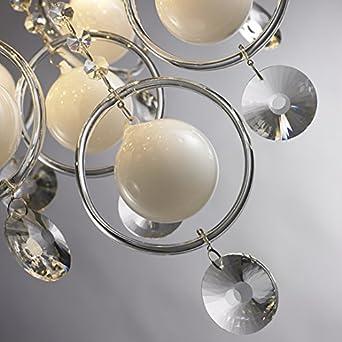 Spar Set 2x Wandlampen 10W LED Wandlicht Strahler verchromt Küche Diele Flur