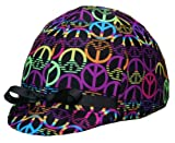 Equestrian Riding Helmet Cover - Peace