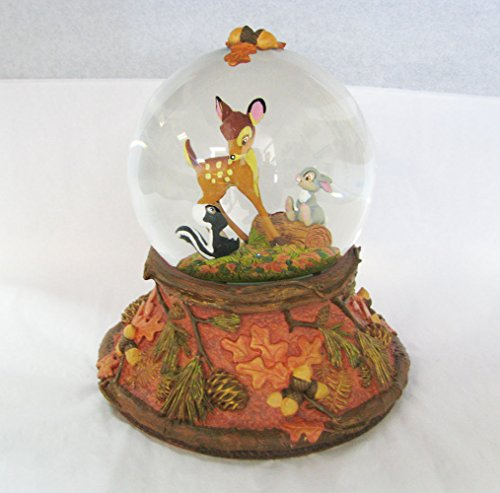 Hallmark Clx2012 Bambi Waterglobe - Forest Friends Forever