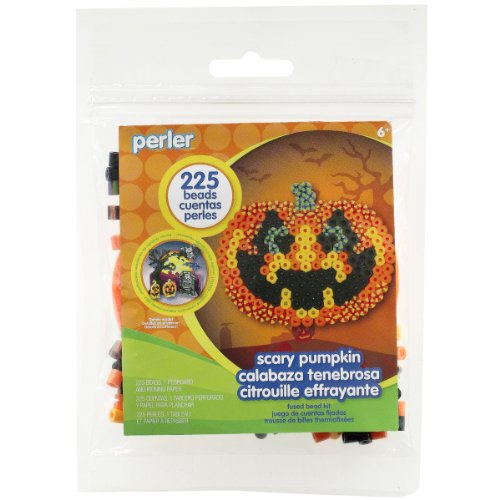 Perler Beads Scary Pumpkin Fused Bead Kit - 1