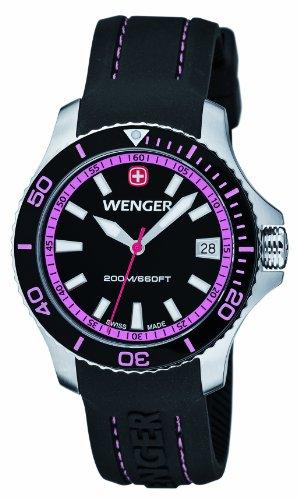 Wenger - 010621103 - Montre Femme - Quartz Analogique - Bracelet Silicone Noir
