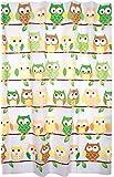 Kiera Grace Printed Peva Shower Curtain, 70 by 72-Inch, Owls