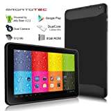 ProntoTec 9 Inch Touch Screen Tablet PC - Cortex A8 Dual Core 12 Ghz - Android 42 - 8G NAND Flash - Ddr3 512M RAM - Dual Cameras - Wi-Fi - G-sensor Black