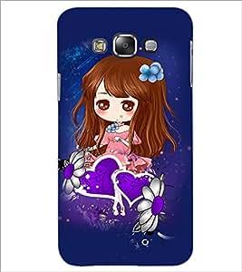 PrintDhaba Cute Girl D-4861 Back Case Cover for SAMSUNG GALAXY E7 (Multi-Coloured)