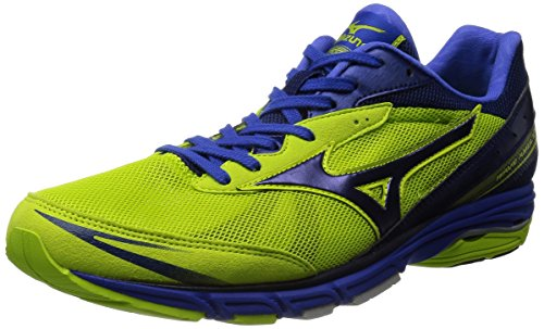 [ミズノ] Mizuno WAVE AMULET 5 [MEN'S] J1GA1481 14 (ライム×ネイビー/260)