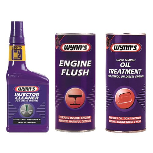 wynns-engine-flush-425ml-super-charge-oil-treatment-425ml-diesel-injector-cleaner-325ml