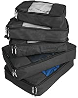 TravelWise Packing Cube System - Durable 5 Piece Weekender+ Set [2014 Version]