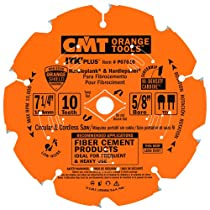 CMT P07010 ITK Plus Saw Blade for Fiber Cement, 7-1/4 X 10 Teeth, TCG with 5/8-Inch<> Bore