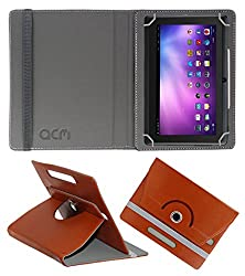 Acm Rotating 360° Leather Flip Case For Vizio Q88 Tablet Cover Stand Brown