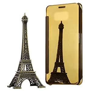 Crazy4Gadget For Samsung Galaxy A7 (2016) / A710 Electroplating Mirror Horizontal Flip Leather Case (Gold)
