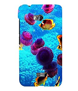 printtech Fish Coral Underwater Back Case Cover for Micromax Bolt Q336