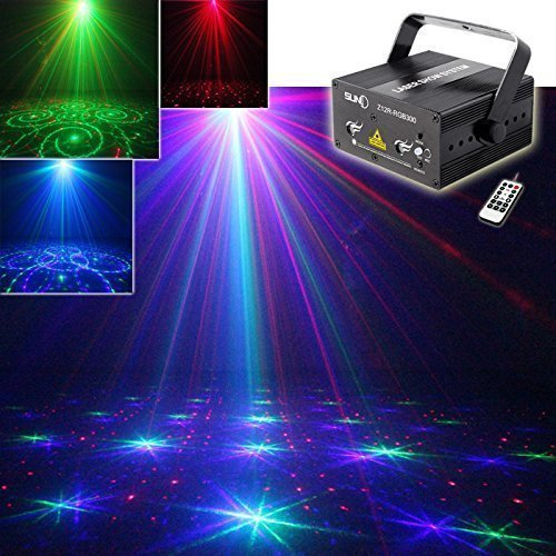 SUND Mini Remote RGB Stage Lighting Mixing Effect DJ Home Party show Light Full Color Professional Adjustable Club Bar Xmas(AZ12R-RGB300