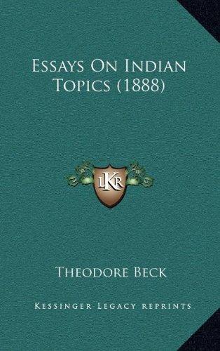 Essays on Indian Topics (1888)