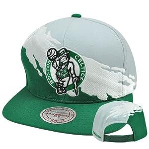 NBA Boston Celtics Mitchell & Ness NG77 MT1 Paintbrush Wool Snapback Hat Cap by Mitchell & Ness