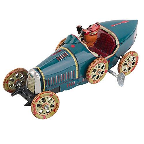 vintage car artwork Vintage Metal Tin Sports Car with Driver Clockwork Wind Up Toy Collectible vintage car decor (Pontiac Firebird Calendar compare prices)