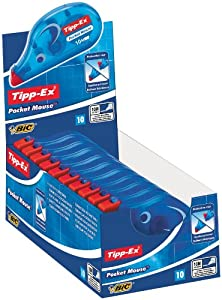 Tipp-Ex Pocket Mouse Correction Tape 4.2mm x 9m - Display Box of 10