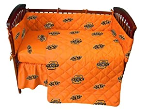 College Oklahoma State Cowboys Orange Crib Set