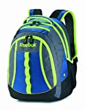 Reebok Thunder Chief Backpack, Electric Blue/Gravel Grey/Gecko Green, One Size
