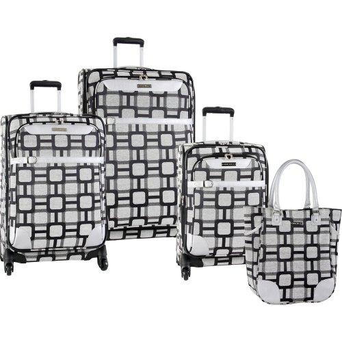 ninewest-luggage-super-sign-4-piece-luggage-set-16-20-24-28-black-grey