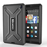 Fire HD 6 Case - Poetic Fire HD 6 Case [Revolution Series] - [Heavy Duty] [Dual Layer] Complete Protection Hybrid Case with Built-In Screen Protector for Amazon Kindle Fire HD 6 Black (3 Year Manufacturer Warranty From Poetic)