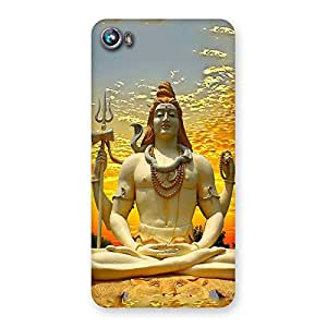 Gorgeous Shiva Samadhi Print Back Case Cover for Micromax Canvas Fire 4 A107