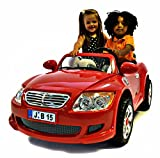 NEW DESIGN KIDS RIDE ON RED 12V 2 MOTORS 2 SEATS RECHARGEBLE BMW Z4 / MERCEDES STYLE CAR + PARENTAL REMOTE CONTROL+DIGITAL RADIO+MP3 INPUT (BMWZ4/MERSEDES-RED)